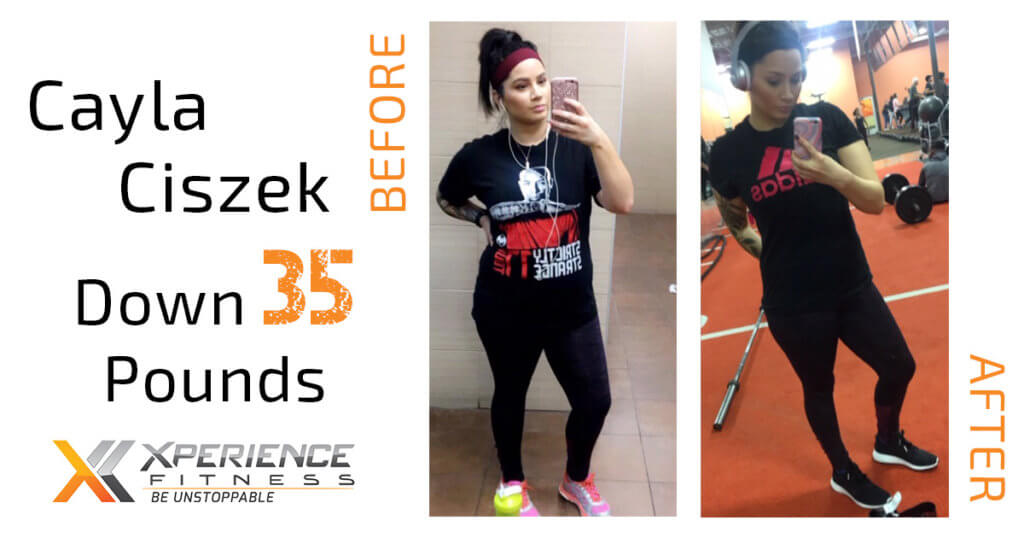 woman takes selfies in different stages of weight loss