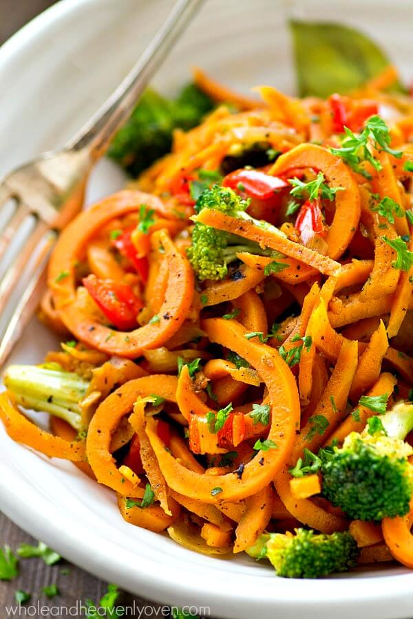 sweet potato noodles stir fry