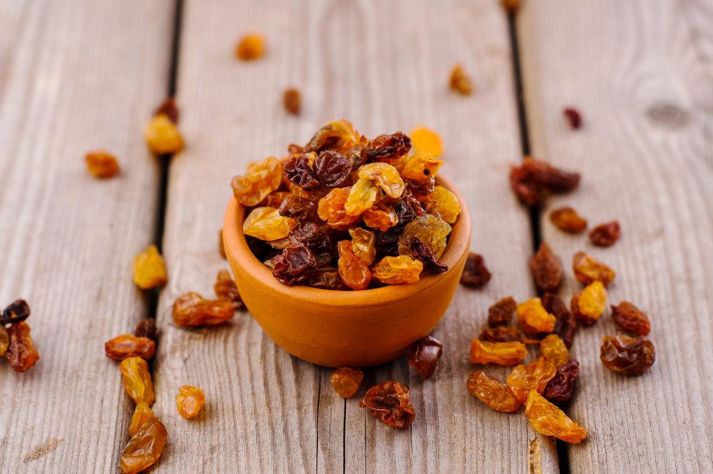 raisins is a healthy calorie-dense food