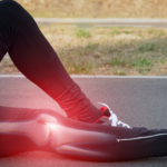 animated image showing injured knee joint