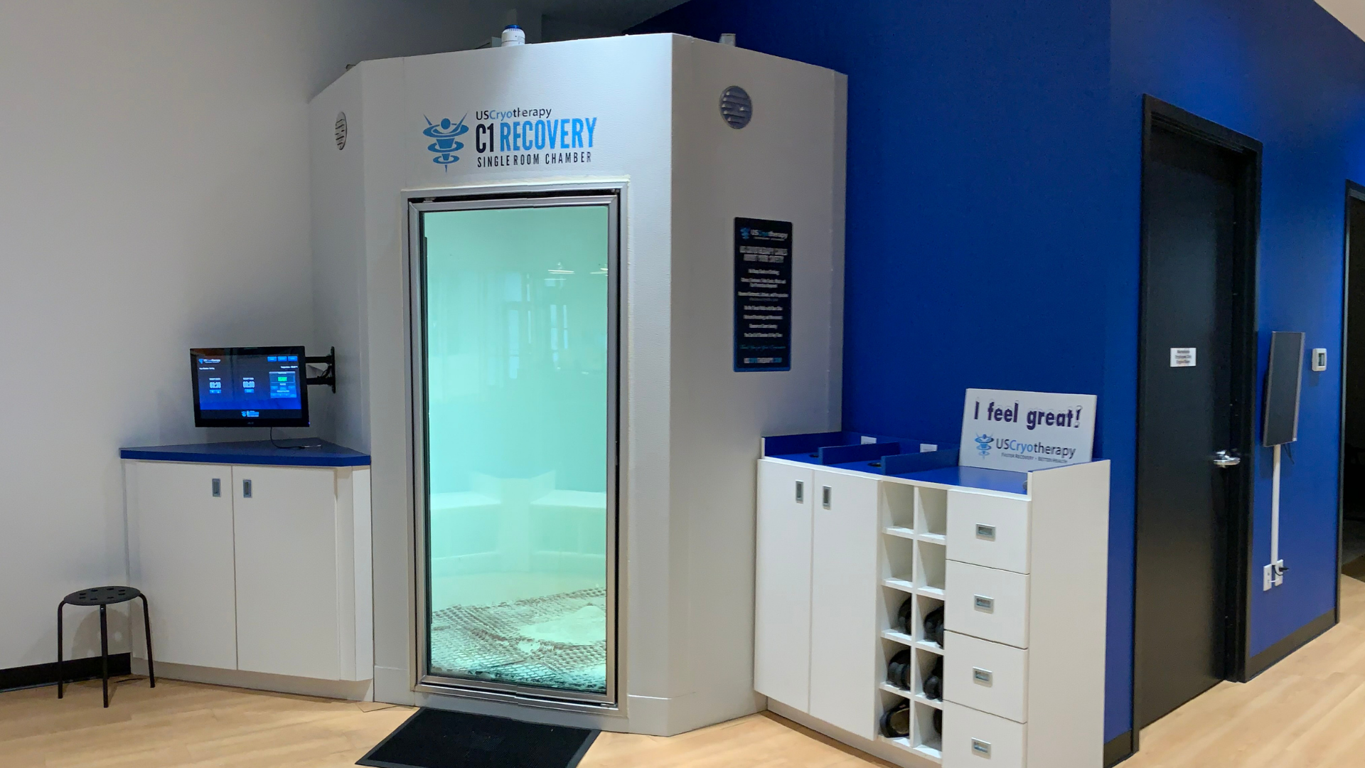 exterior view of a cryotherapy chamber