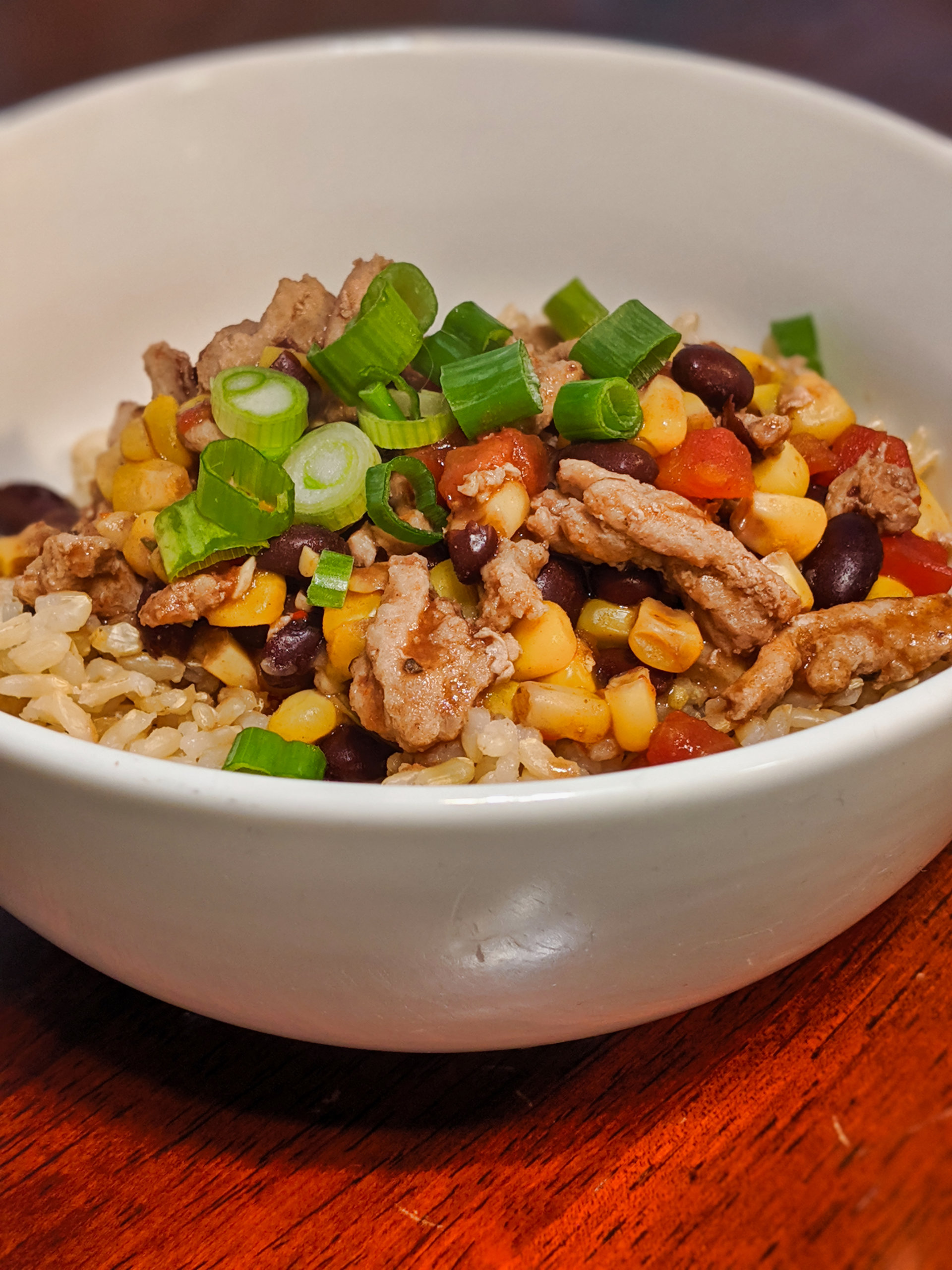 turkey taco bowl